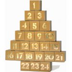 Adventskalender gold