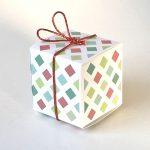 Geschenkschachtel Würfel funny squares