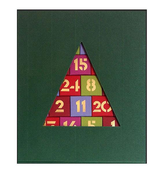 Adventskalender mit Umkarton grün