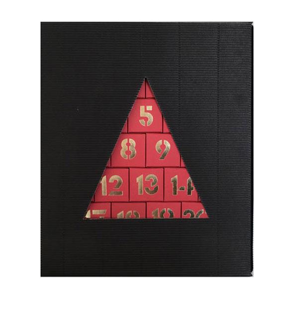 Adventskalender mit Umkarton schwarz