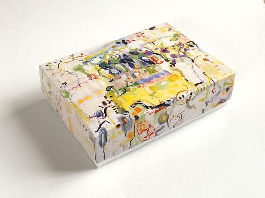 Geschenkschachtel Provence, Deckel und Bodenschachtel 9 x 12 cm