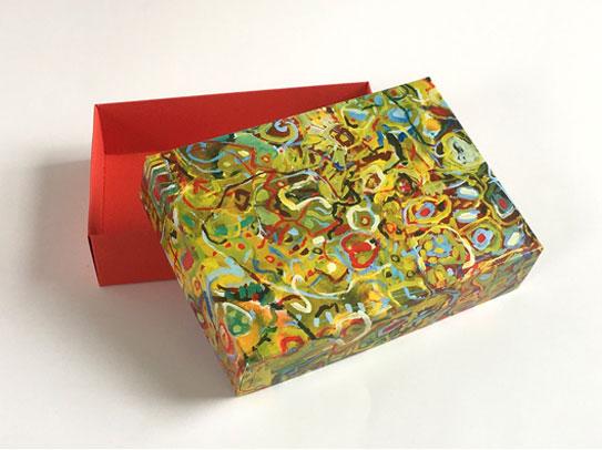 Geschenkschachtel Toscana, Deckel und Bodenschachtel 9 x 12 cm